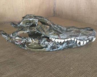 Mossy Oak Camo Alligator Skull