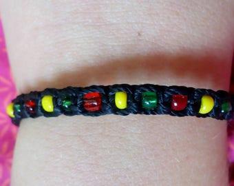 Black braided bead bracelet