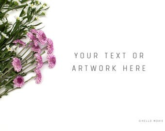 Styled Stock Photography - Floral Styled Stock Photography - Flower Stock Images - Floral Styled Mockup