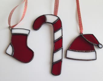 Christmas Stained Glass Decorations