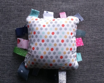 Doudou labels square polka dot