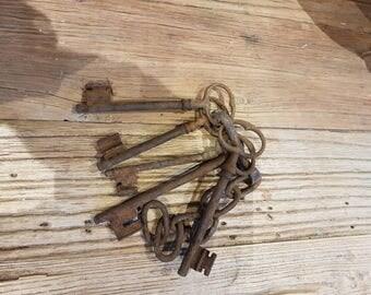 Genuine French vintage chatau keys