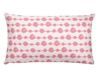 Pink Spotted -Rectangular Pillow