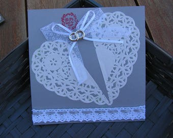 """""""All you need is love"""" wedding congratulations card"""