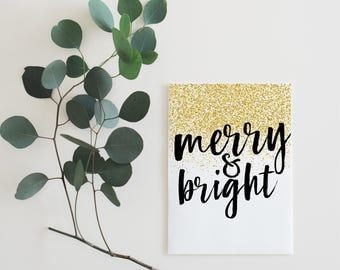 Merry & Bright Holiday Card | Christmas Card