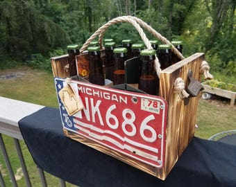 Beer crate 12 pack handcrafted license plates