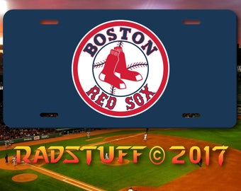 """Boston Red Sox Novelty License Plate 6x12"""" Aluminum"""