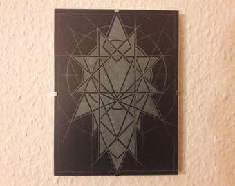 Phosphoros-Geometric glass engraving