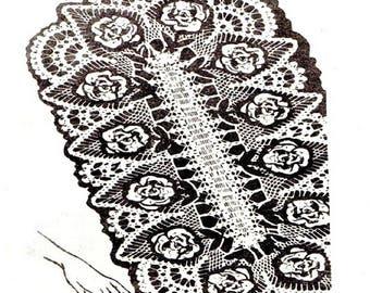 Rose Runner Oval Doily, Alice Brooks 507, PDF Crochet Pattern