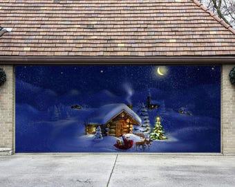 3d banners gifts sign double garage door cover full color christmas door murals