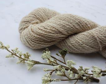 Hand Spun Beige Alpaca Sock Yarn