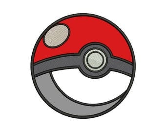 Pokeball Applique Design - 4 SIZES