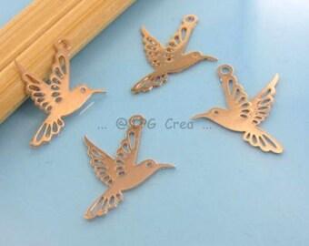 Prints watermark - birds - Dim:13x16mm - color light copper 4 # M69