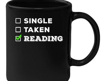 Reading - Single, Taken Reading 11 oz Black Coffee Mug