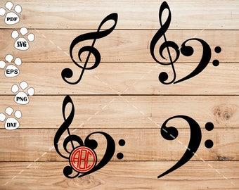 Musical Note SVG Files, Musical Note Clipart, cricut, cameo, silhouette cut files commercial &  personal use