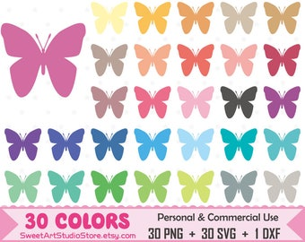 Butterfly Clipart, Butterfly planner SVG Silhouette Cricut Cut File Commercial Use (Png Svg Dxf)