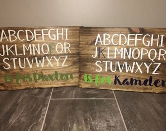 Alphabet Name Sign