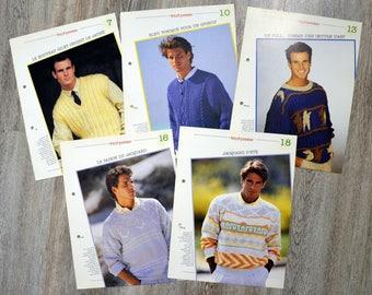 Set of 5 passion - men's sweaters knitting pattern