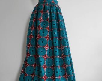 Wax (Ankara) long skirt T 40