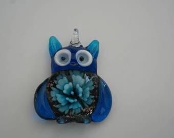 Murano Lampwork Glass OWL pendant