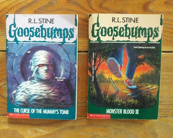 Goosebumps by R. L Stine, two books, first Scholastic printing, first edition