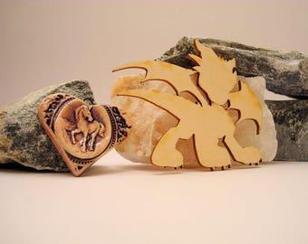 Dragon 02039 embellishment wooden creations