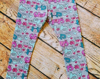 Elephant leggings 2-3 years