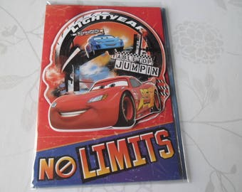 x 3D pattern Cars multicolored + 1 double card envelope 19.5 x 13.5 cm
