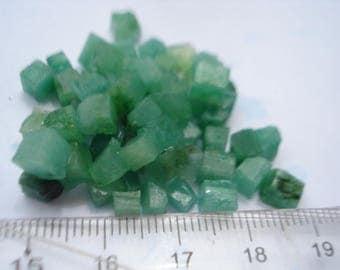 Emeralds Cubes - 5 Green Emeralds Tinted Cubes G10