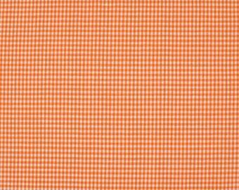 Orange 2mm 100% cotton gingham fabric