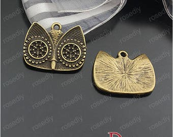 10 bronze 23 * 19MM D24344 OWL head charms