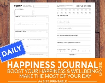 Printable Daily Happiness Journal