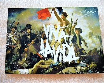 art postcard liberty leading the people Eugène Delacroix - Viva Vida la for cardmaking, scrapbooking, decoration or collection purpose