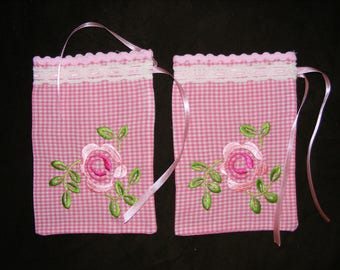 Scented pockets Diamonds with Rose