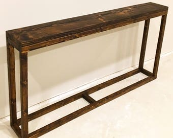 Entryway table etsy for Long console table behind couch