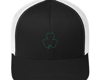 St Patrick's Day Clover Trucker Cap