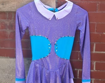 Purple Figure Skating Competition Dress