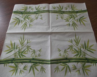 bamboo themed paper napkins