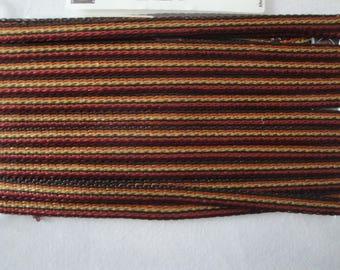 Multicolor thin stripe washable viscose