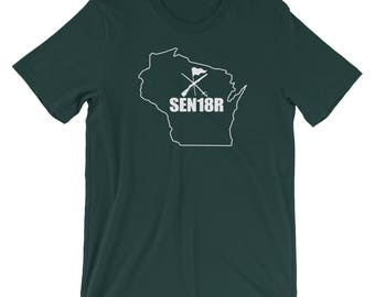 Wisconsin Color Guard 2018 Shirt, Graduating Senior 2018 Color Guard, Wisconsin State ColorGuard Shirt, SEN18R Color Guard Gift