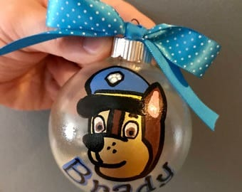 Paw patrol chase personalized ornament