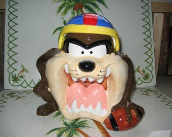 Taz Football Cookie Jar