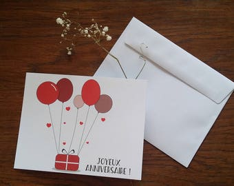 "Card ""Happy birthday"""
