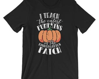 Halloween Teacher / Kindergarten Teacher / Teacher Shirts / Pumpkin Shirt / Halloween Shirt / Halloween Costume / Teacher Gifts