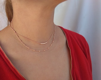 Delicate Silver necklace, Dainty necklace, Minimalist necklace.