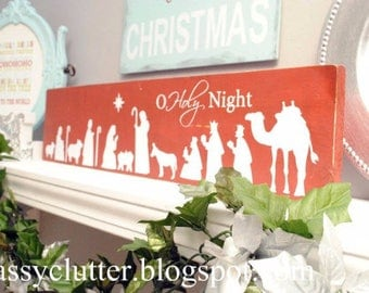O Holy Night Nativity Christmas Vinyl Decal