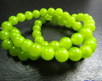 Set of 10 Jade 6 mm beads