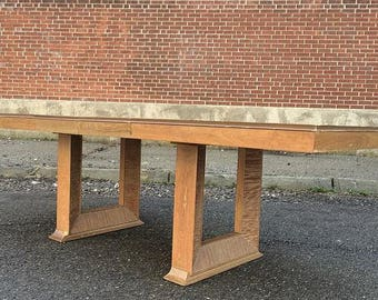 Paul Frankl For Brown Saltman Untouched 1940s Cerused Dining Table