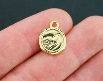 Gold Double-sided Dove Charms