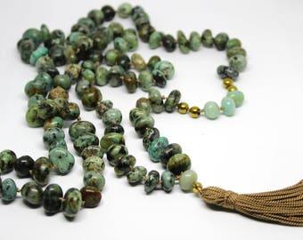 African Turquoise & Amazonite (100cm)